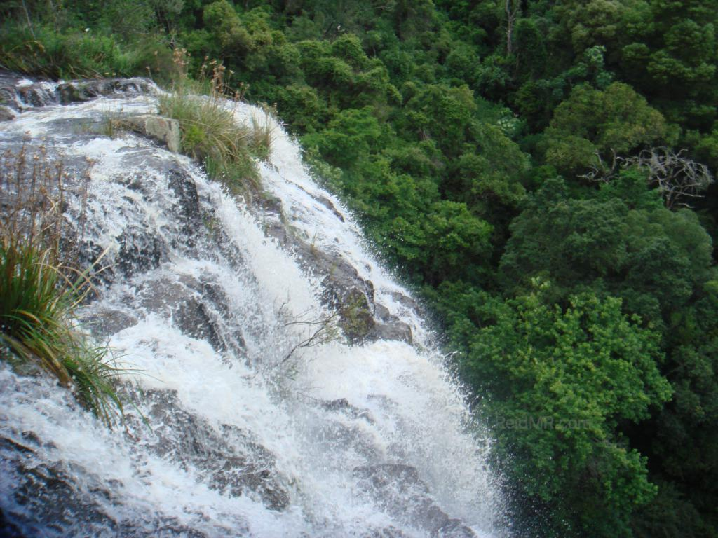 Waterfall from the top looking down