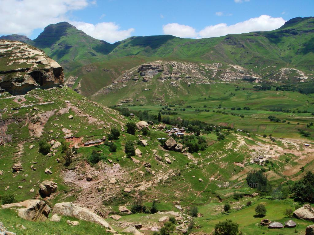 Aerial view of Lesotho