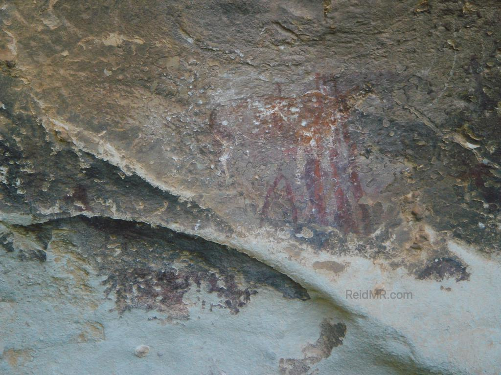 Cave drawings in Lesotho