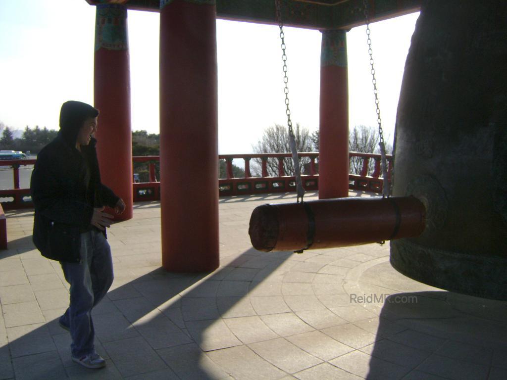 Me ringing the Seokguram Grotto Bell