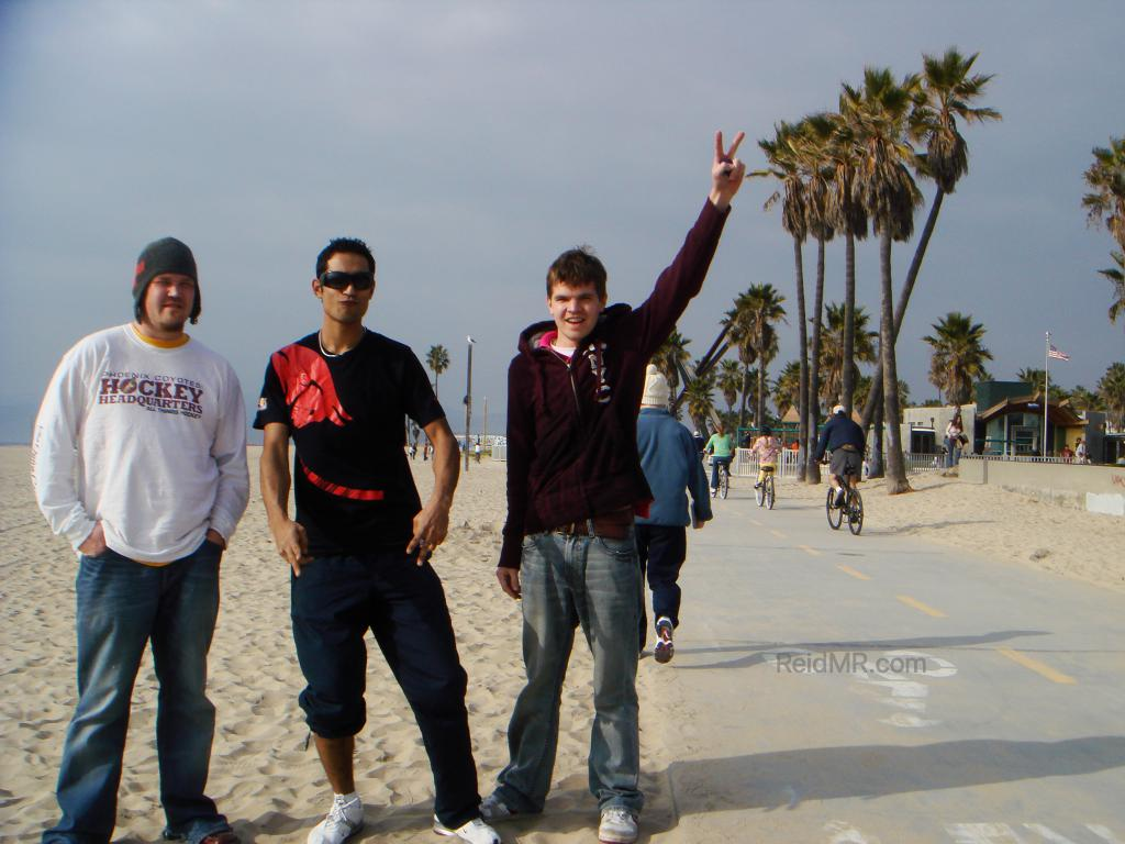 Trent, Sumedh and I on Venice Beach