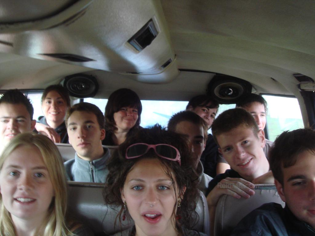 Group photo in the Taxi / Van on the way to Jeffery's Bay.