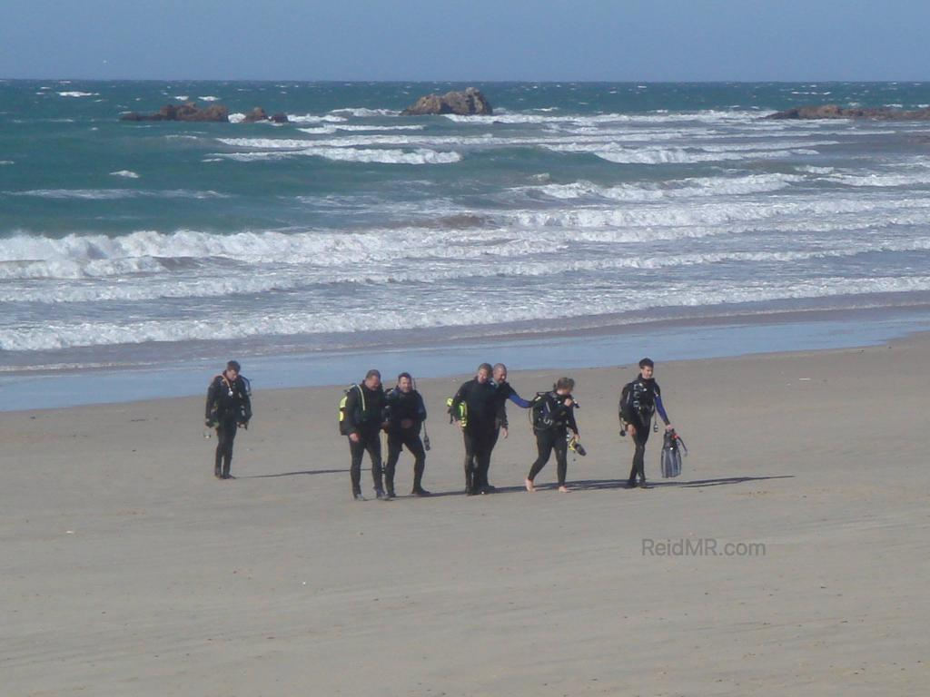 A group of surfers in Port Elizabeth on the beach.