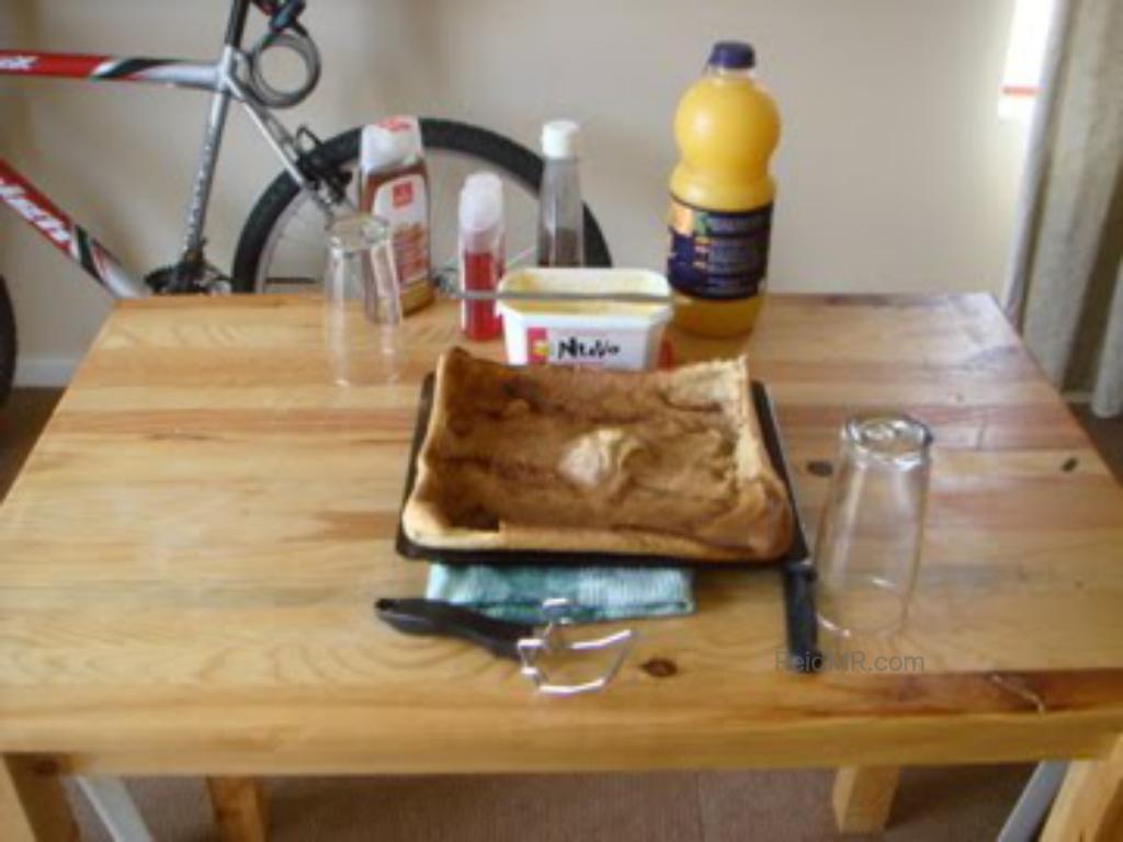 A pannekoeken, breakfast. Something in the pancake, waffle, french toast category.