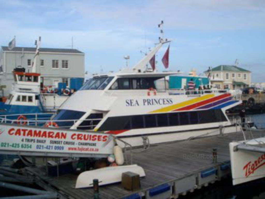 Sea Princess, the yacht we had the tour on.