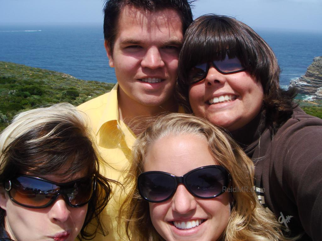 Four of us at Cape Point.