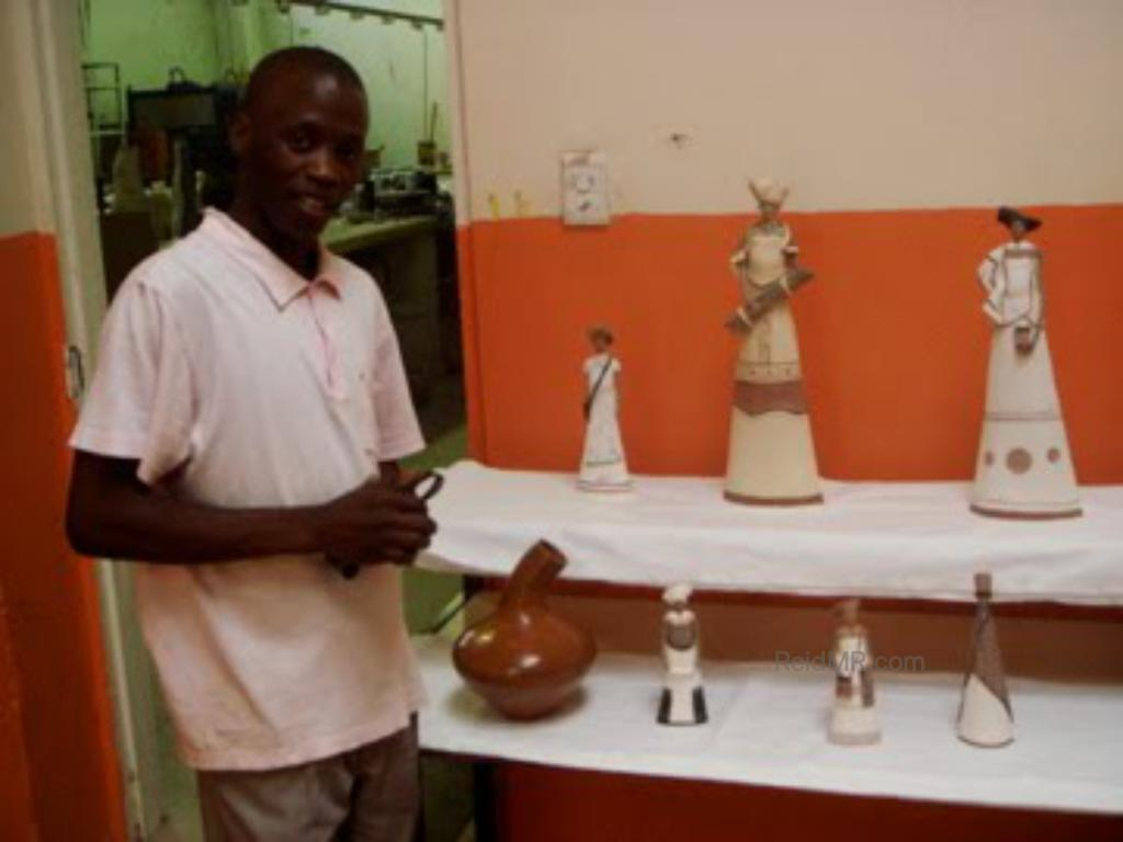 Artwork by a local man living in the township. Figurines.