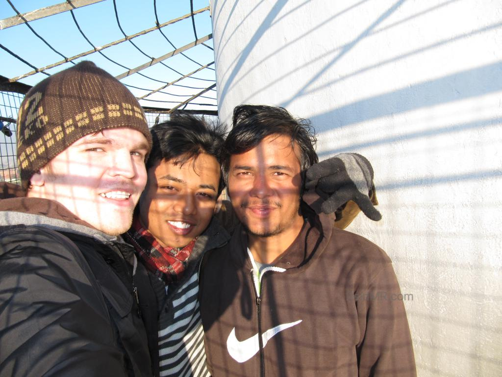 Me, Samridh, Santosh on the top of the Dharahara tower