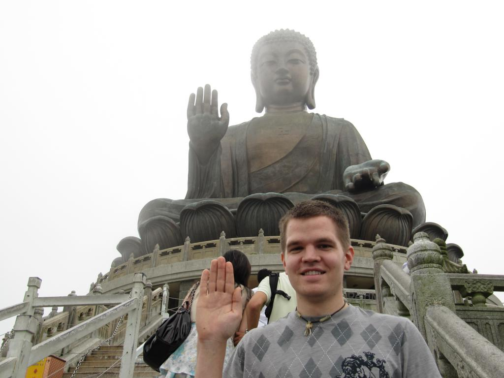 Photo of me in front of the Big Buddha