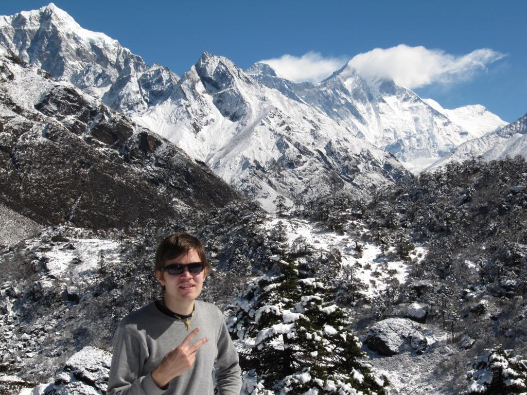 Me posing with Everest in the background