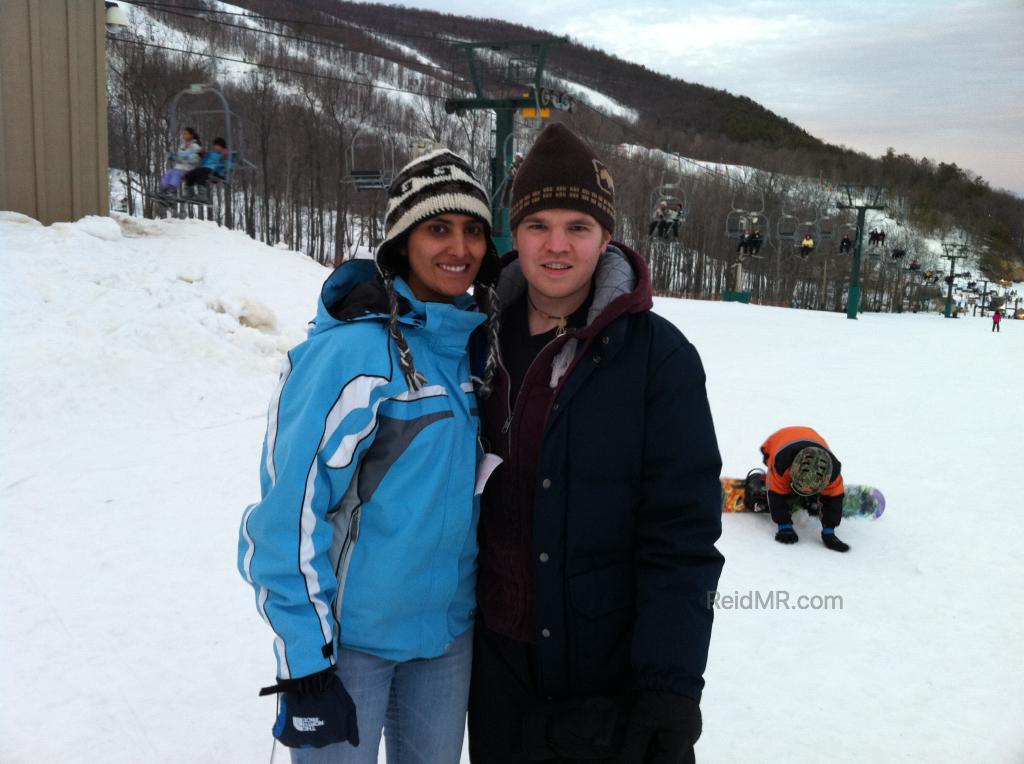Prat and I when skiing at Whitetail in Mercersburg