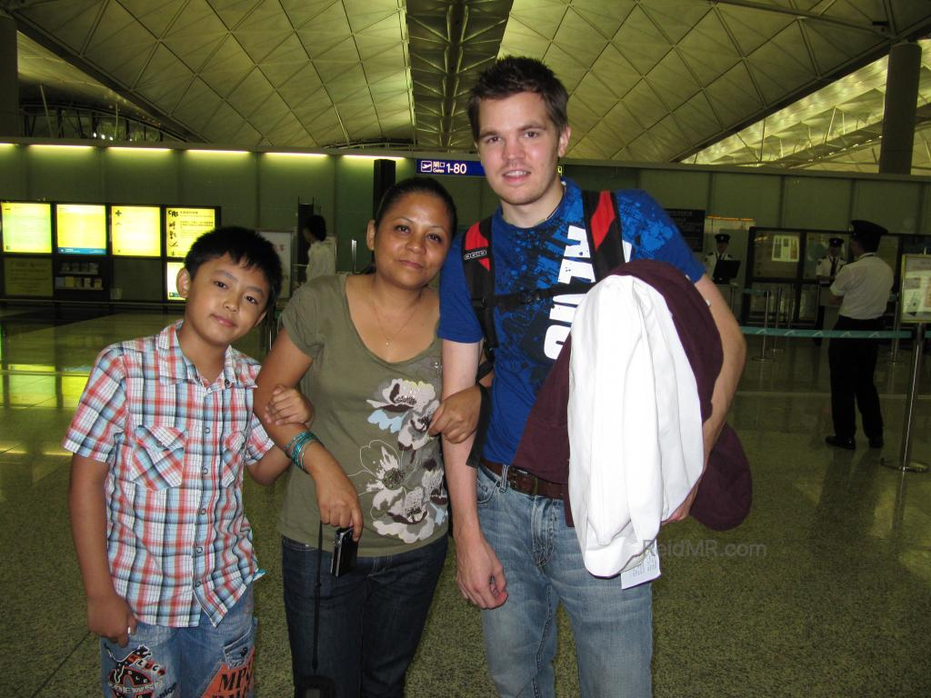 Marv, Likee and I at the airport