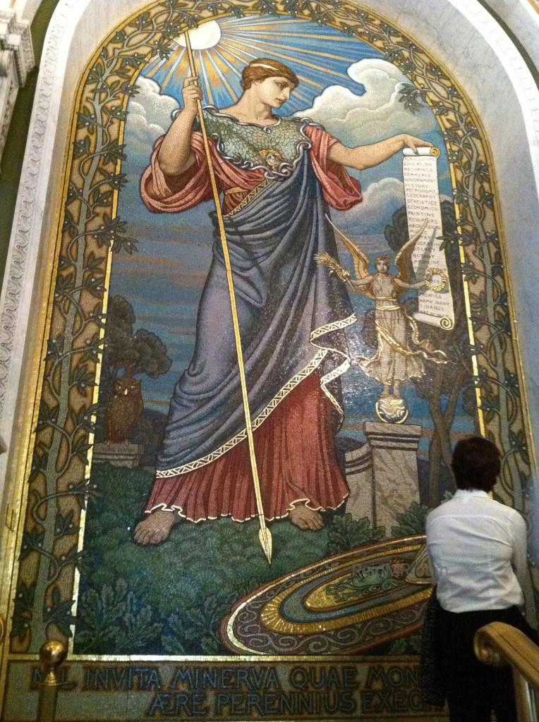 Minerva mosaic by Elihu Vedder at the Library of Congress