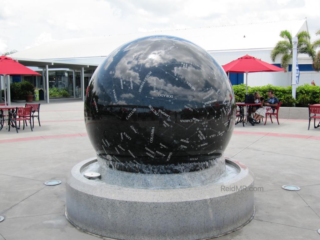Granite ball at the NASA Space Center