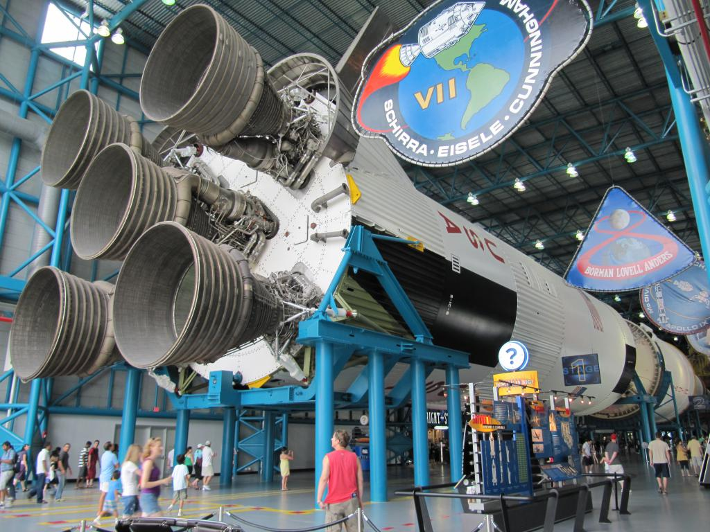 One of the space shuttles engines at NASA