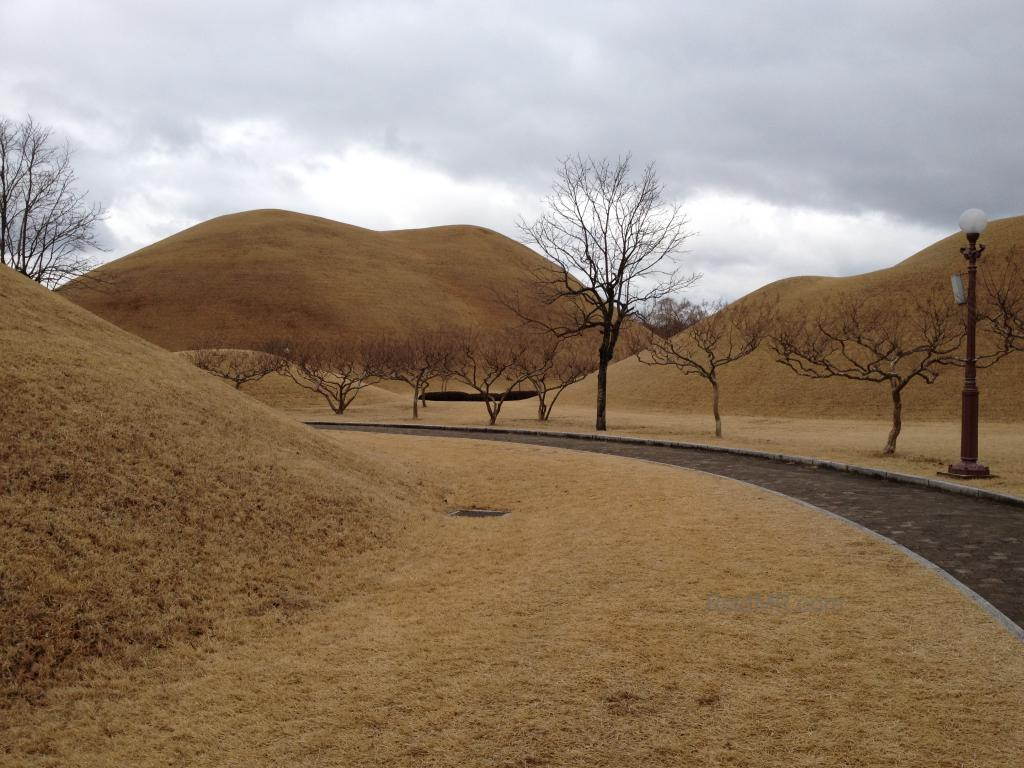 The burial mounds in Gyeongju