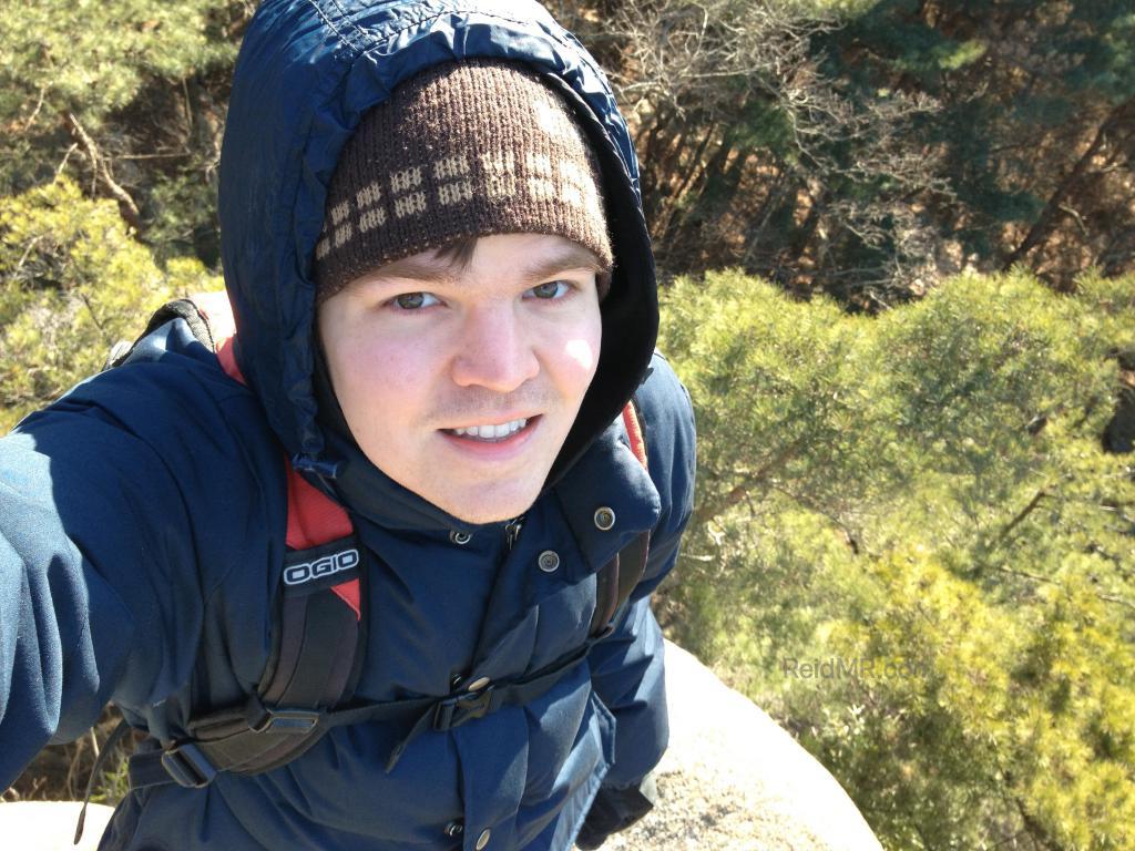 Photo of me by a cliff edge near Gyeongju