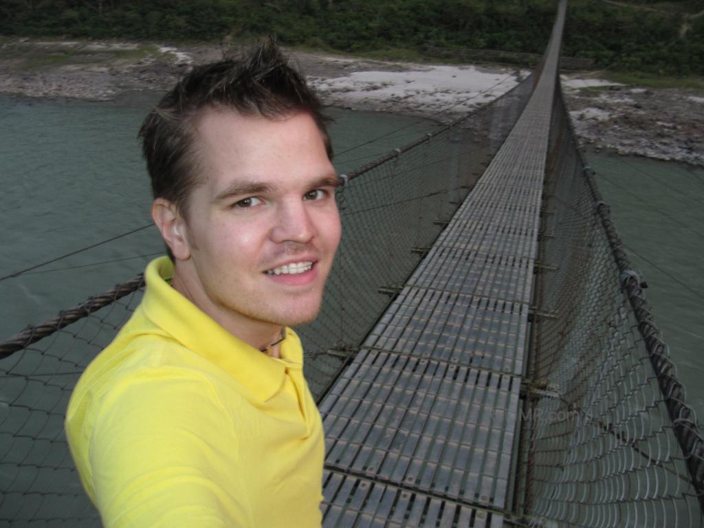 A bridge in Manakamana with me standing on it
