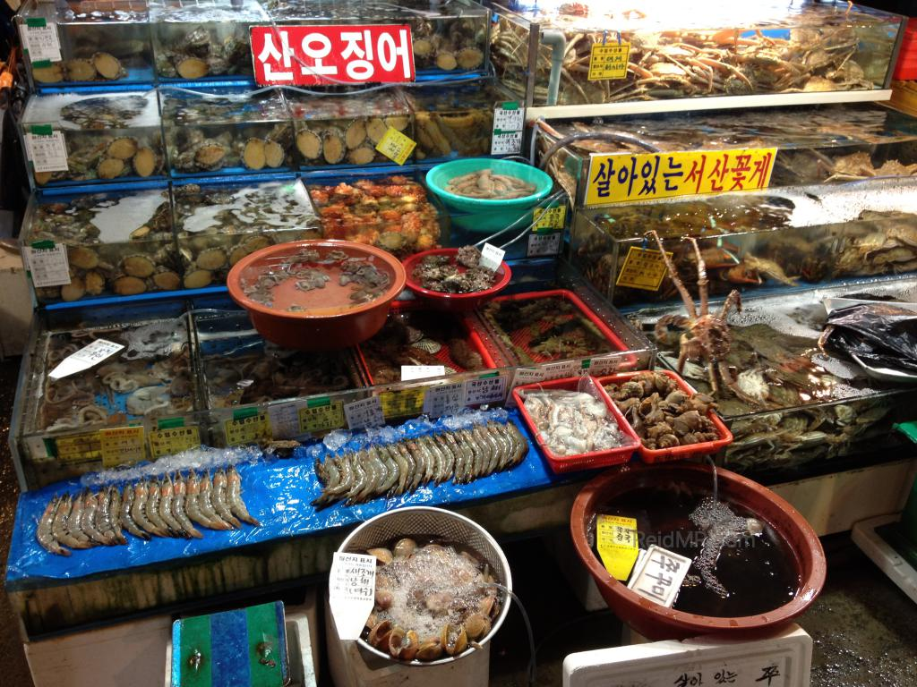Fresh seafood market in Seoul