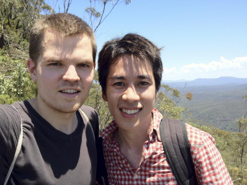 Ben and I posing together at the Blue Mountains.