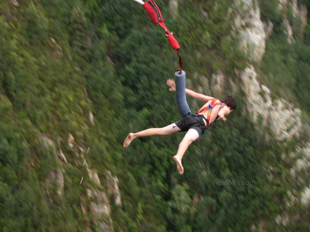 Bungee jump in my boxers